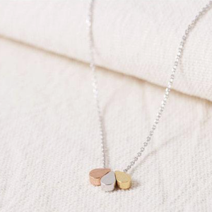 3 gold teardrop necklace