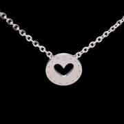 Heart i do wedding necklace silver