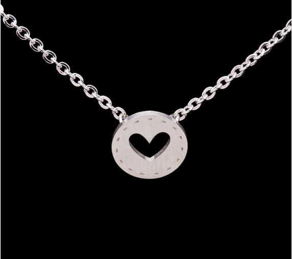 Heart i do wedding necklace silver