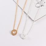 Heart i do wedding necklace silver gold